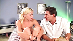 Cunning teacher is talking his completely naked student into rough sex