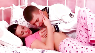 This aroused guy is licking this lass's pink vagina lips tasty and fast