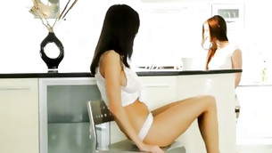 Peep dark brown beauties Gabi furthermore Caprice eat several other out furthermore use their beyond comparison fingers
